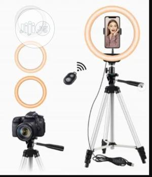 """10"""" Selfie Ring Light With 50"""" Extendable Tripod Stand 