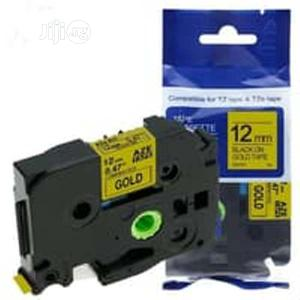 Compatible Brother Tz 12mm Black On Gold Laminated Tape | Stationery for sale in Lagos State, Ogudu