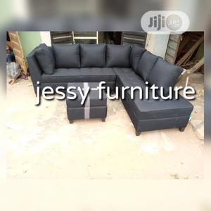 New Set of L-Shaped Fabric Sofa With an Ottoman | Furniture for sale in Lagos State, Gbagada