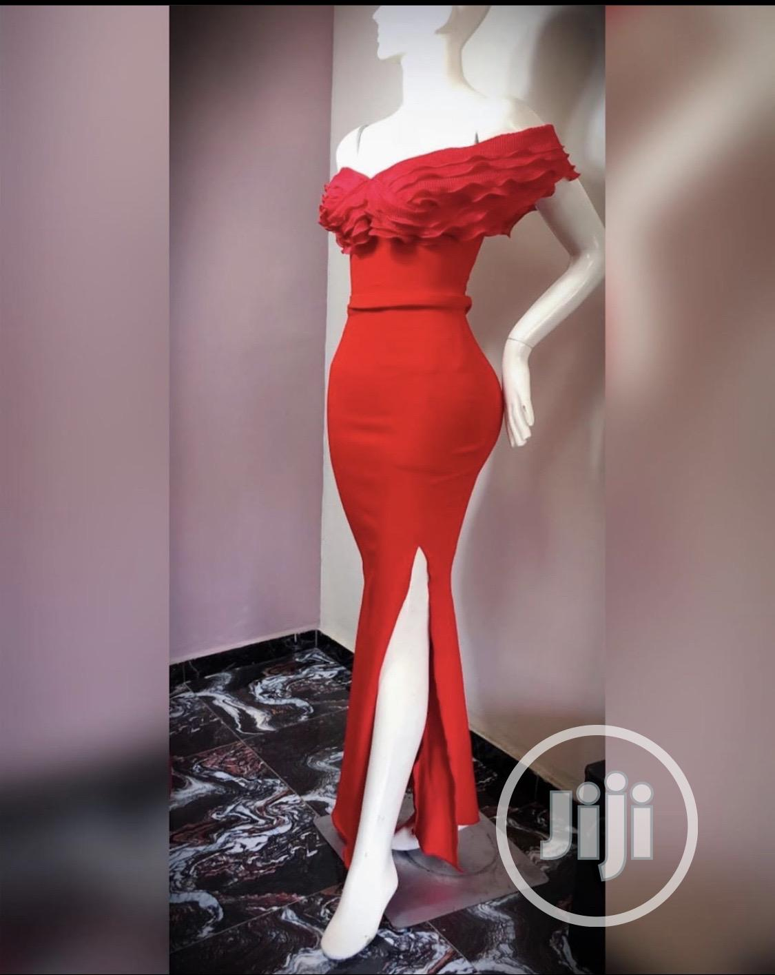 Beautiful Red Gown for Sale