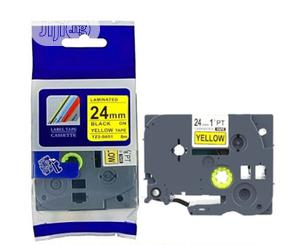 Brother Compatible Label Cartridge 24mm Black On Yellow | Accessories & Supplies for Electronics for sale in Lagos State, Ikeja