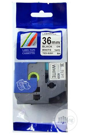 Brother Compatible Label Cartridge 36mm Black On White | Accessories & Supplies for Electronics for sale in Lagos State, Ikeja
