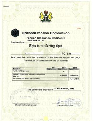 Process Pencom, Nsitf, Itf, Bpp, Frc Compliance Certificates | Tax & Financial Services for sale in Abuja (FCT) State, Central Business Dis