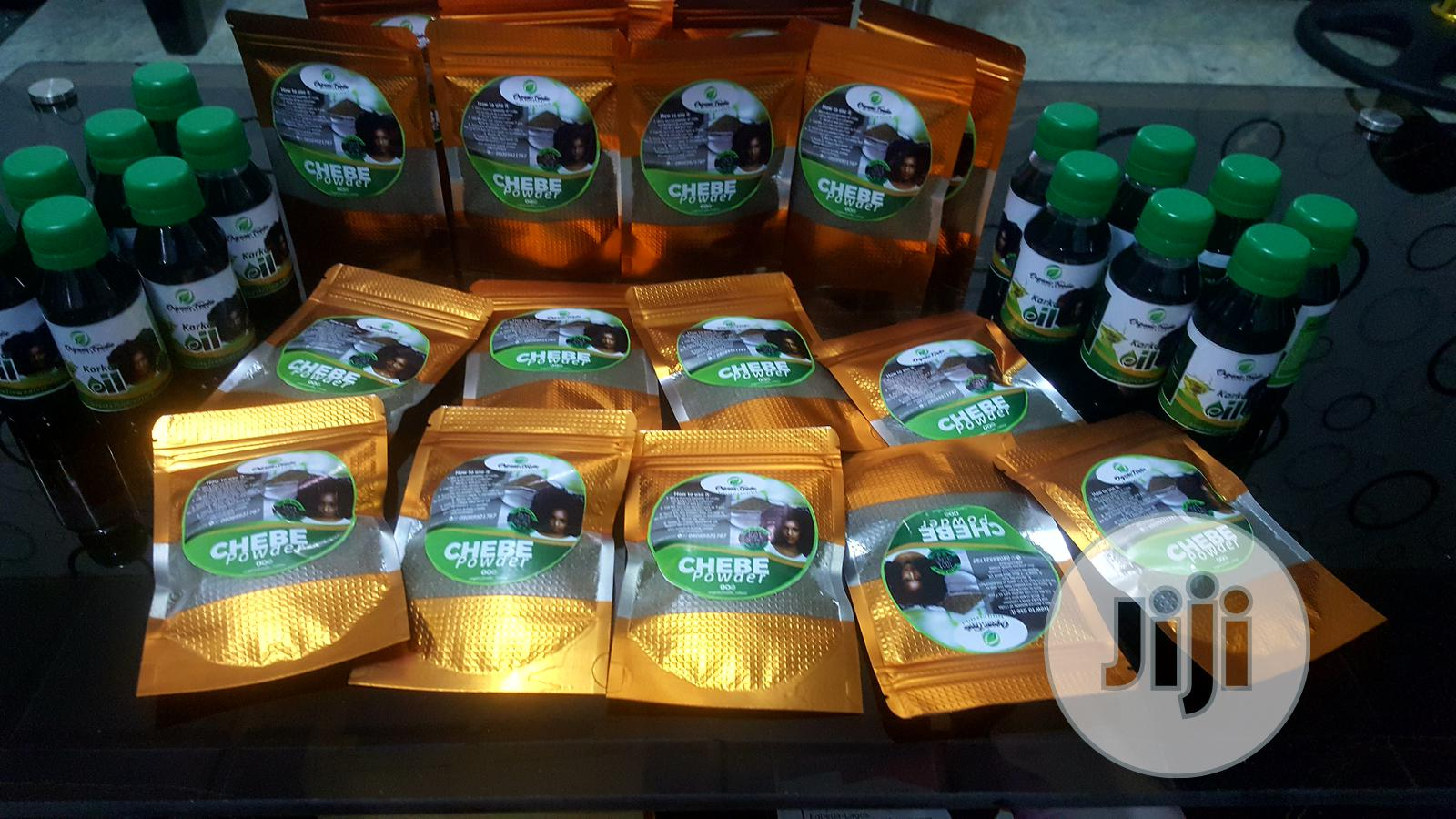 Organic Foodie Chebe Powder And Karkar Oil   Hair Beauty for sale in Amuwo-Odofin, Lagos State, Nigeria