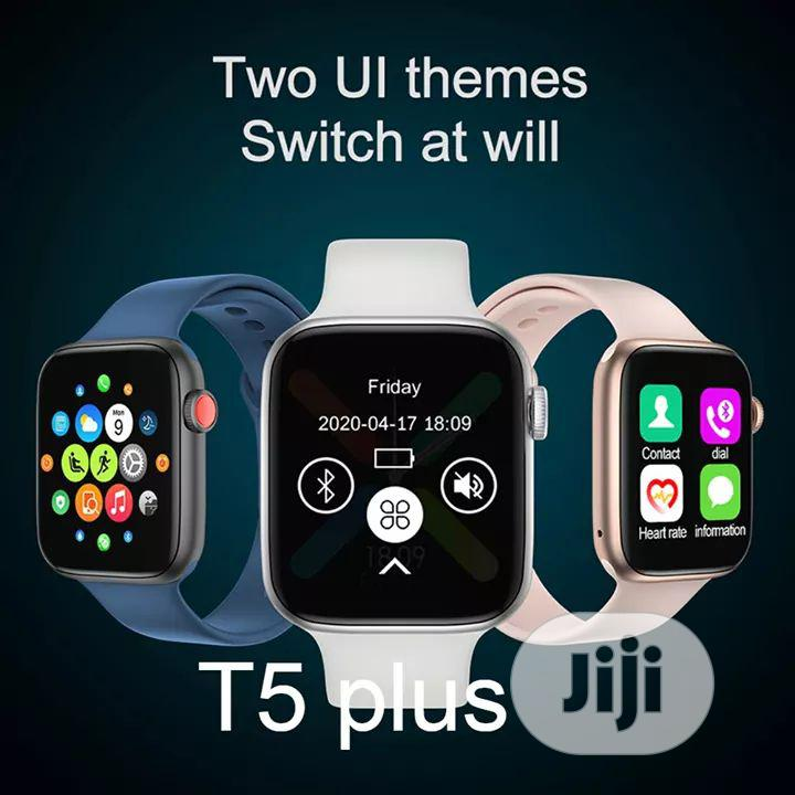 T5 Plus Iwatch Series 5 Smart Watch Android And Ios Device | Smart Watches & Trackers for sale in Ikeja, Lagos State, Nigeria