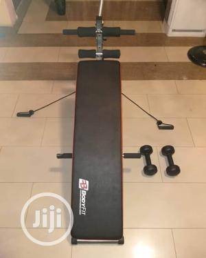 Standard Sit Up Bench With Dumbells And Resistance Band | Sports Equipment for sale in Lagos State, Lekki