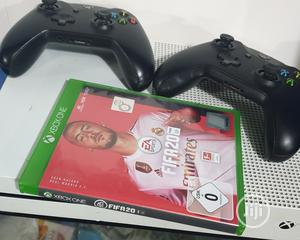 Microsoft Xbox One S + 2 Controllers + Fifa 20 | Video Game Consoles for sale in Lagos State, Ikeja