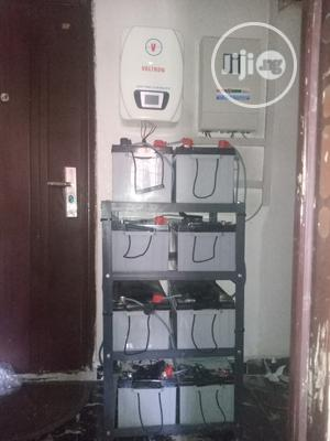 5kva Solar Inverter Installation With Gaston Batteries   Solar Energy for sale in Rivers State, Ikwerre