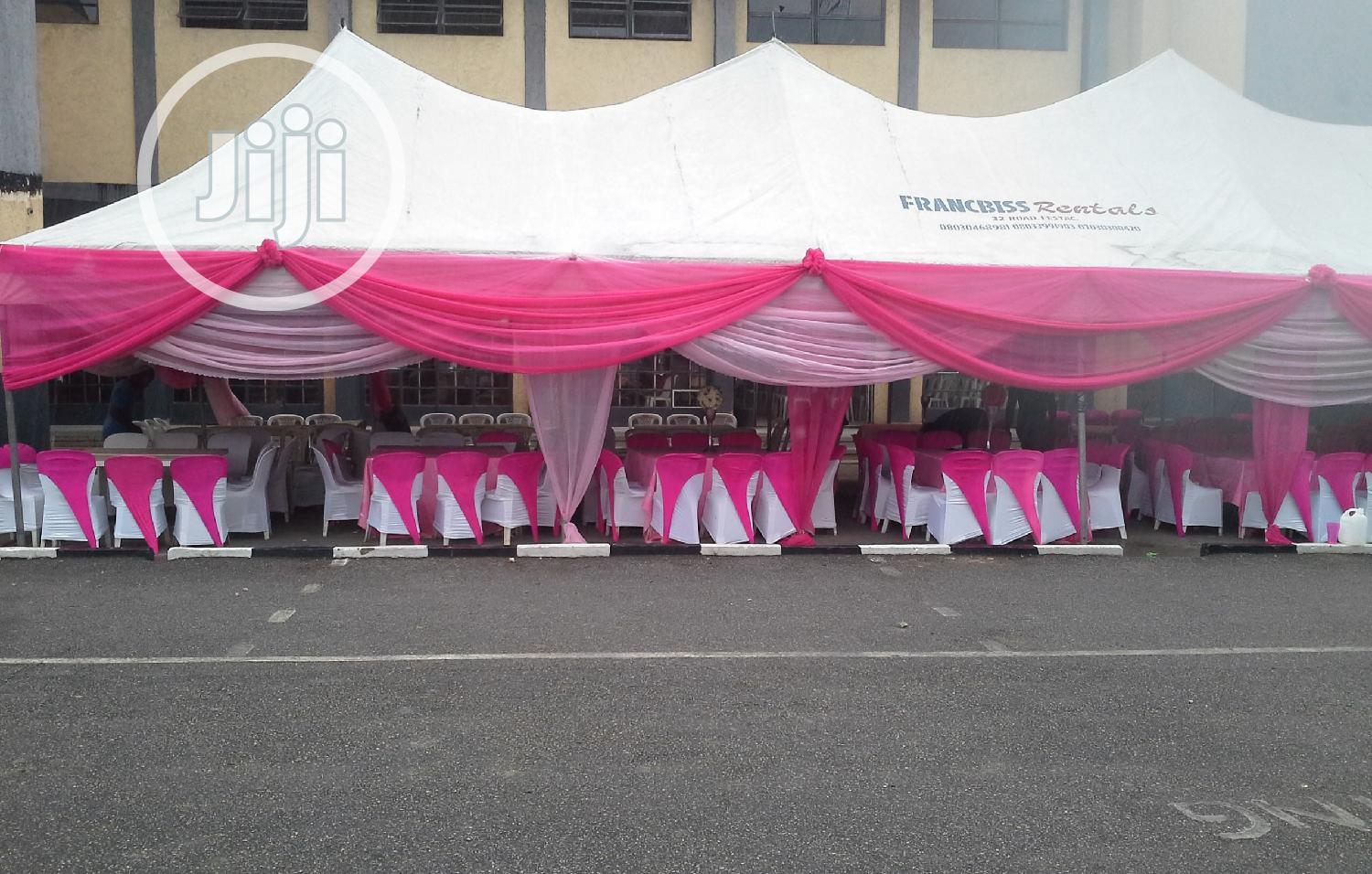 Tents And Canopies, Chairs And Tables For Rent