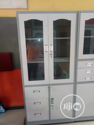 New Arrival Classic Half Glass Metal Filing Cabinet   Furniture for sale in Lagos State, Ikeja