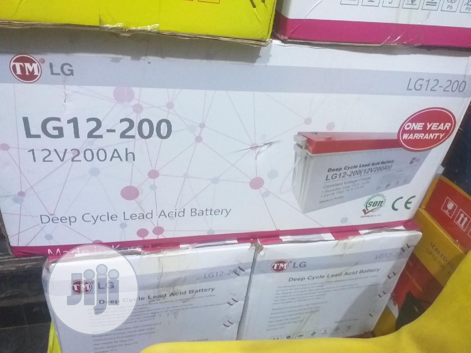 12v 200ah LG Solar Battery | Solar Energy for sale in Ojo, Lagos State, Nigeria