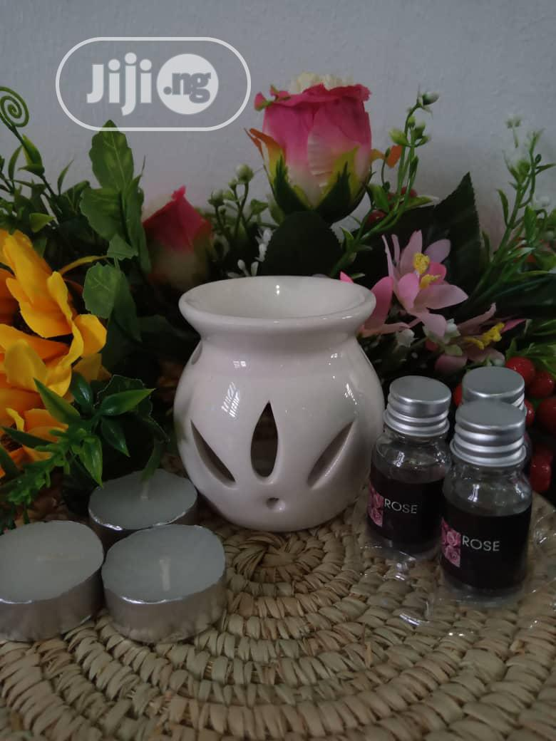 Archive: Candle Burner + 3candles + 3perfume Oil