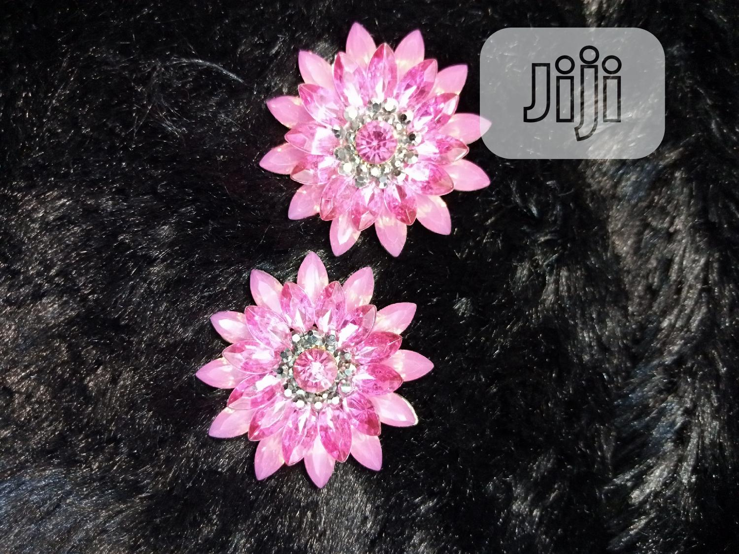Beautiful Pink Stone Earring | Jewelry for sale in Wuse 2, Abuja (FCT) State, Nigeria