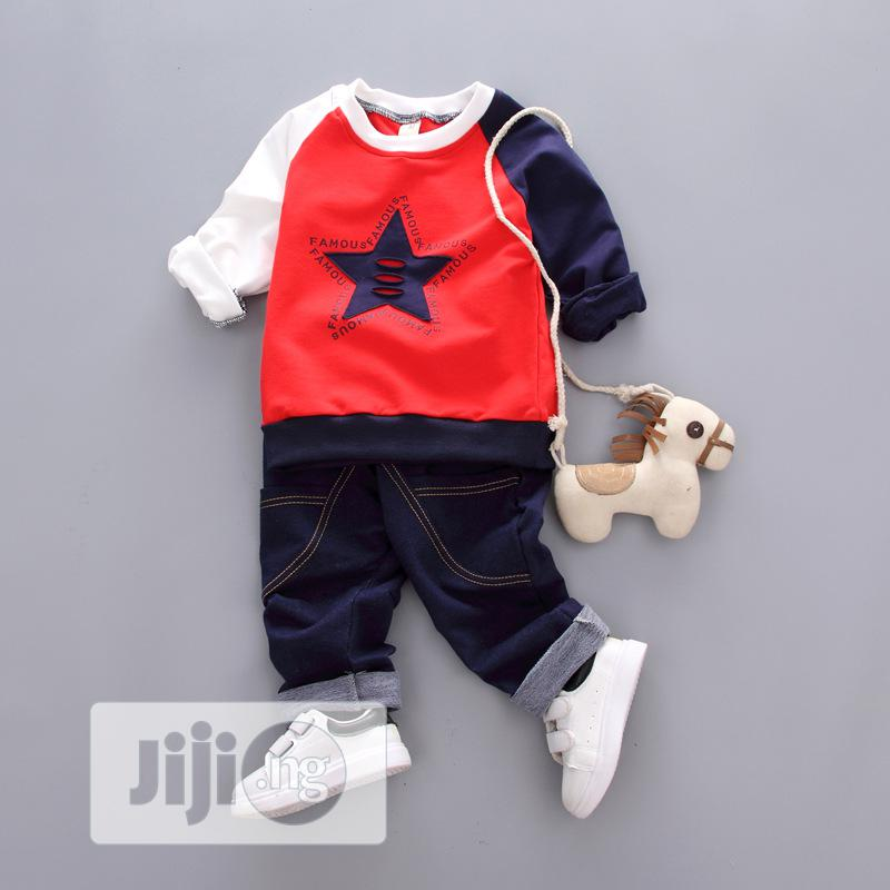 Famous Designer Top Quality Polo and Jean Set for Sweet Boys