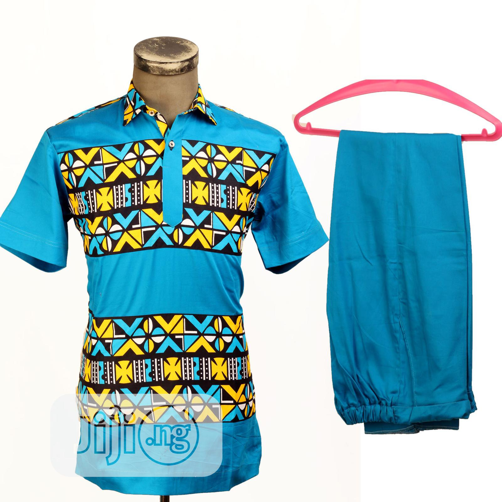 Ankara Plain /Pattern Short Sleeve Top | Clothing for sale in Ojodu, Lagos State, Nigeria