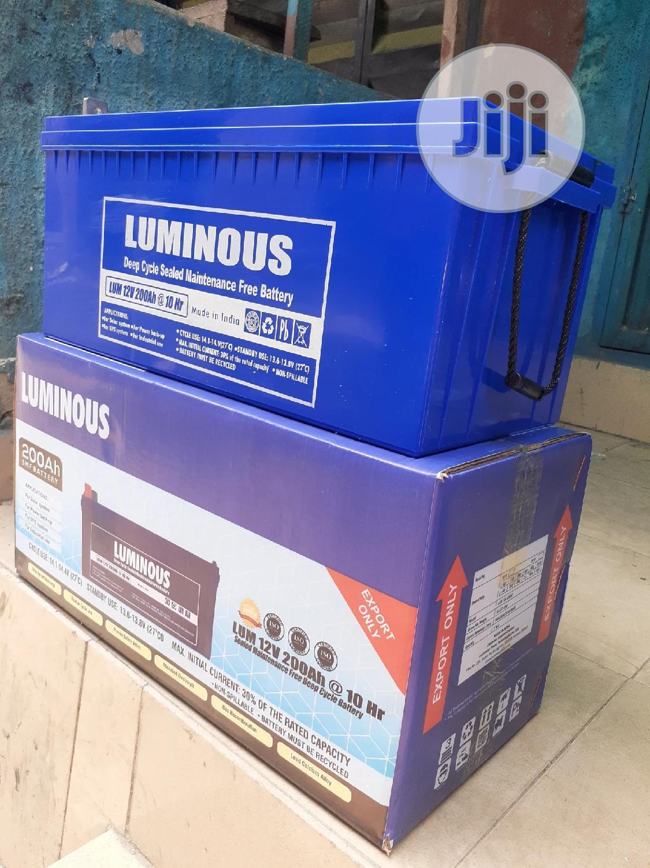 12v 200ah Luminous Battery Now
