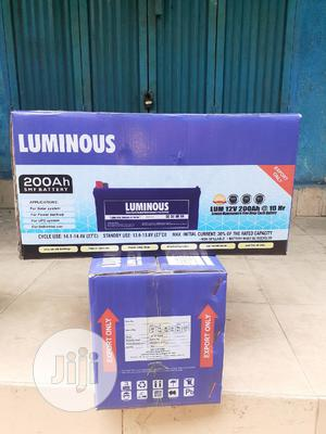 12v 200ah Luminous Battery Is Available Now In | Solar Energy for sale in Lagos State, Ojo