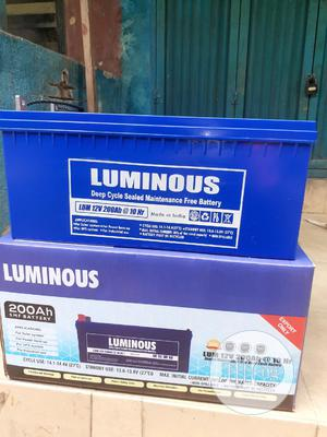 12v 200ah Luminous Battery Is Available Now | Solar Energy for sale in Lagos State, Ojo