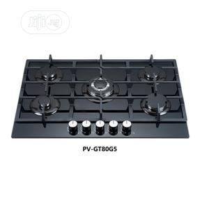 Polystar 5 Burner Built-in Gas Hob Glass Cooktop | Kitchen Appliances for sale in Lagos State, Alimosho