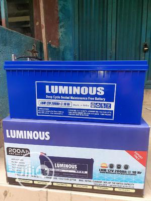 12v 200ah Luminous Battery Now Available In | Solar Energy for sale in Lagos State, Ojo