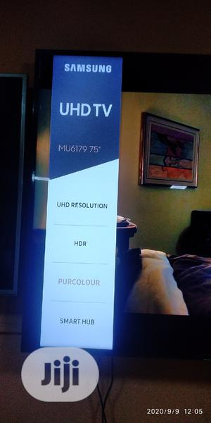 75 Inches Samsung Uhd 4K Hdr10 Tizen OS TV With Satellite | TV & DVD Equipment for sale in Lagos State, Ojo