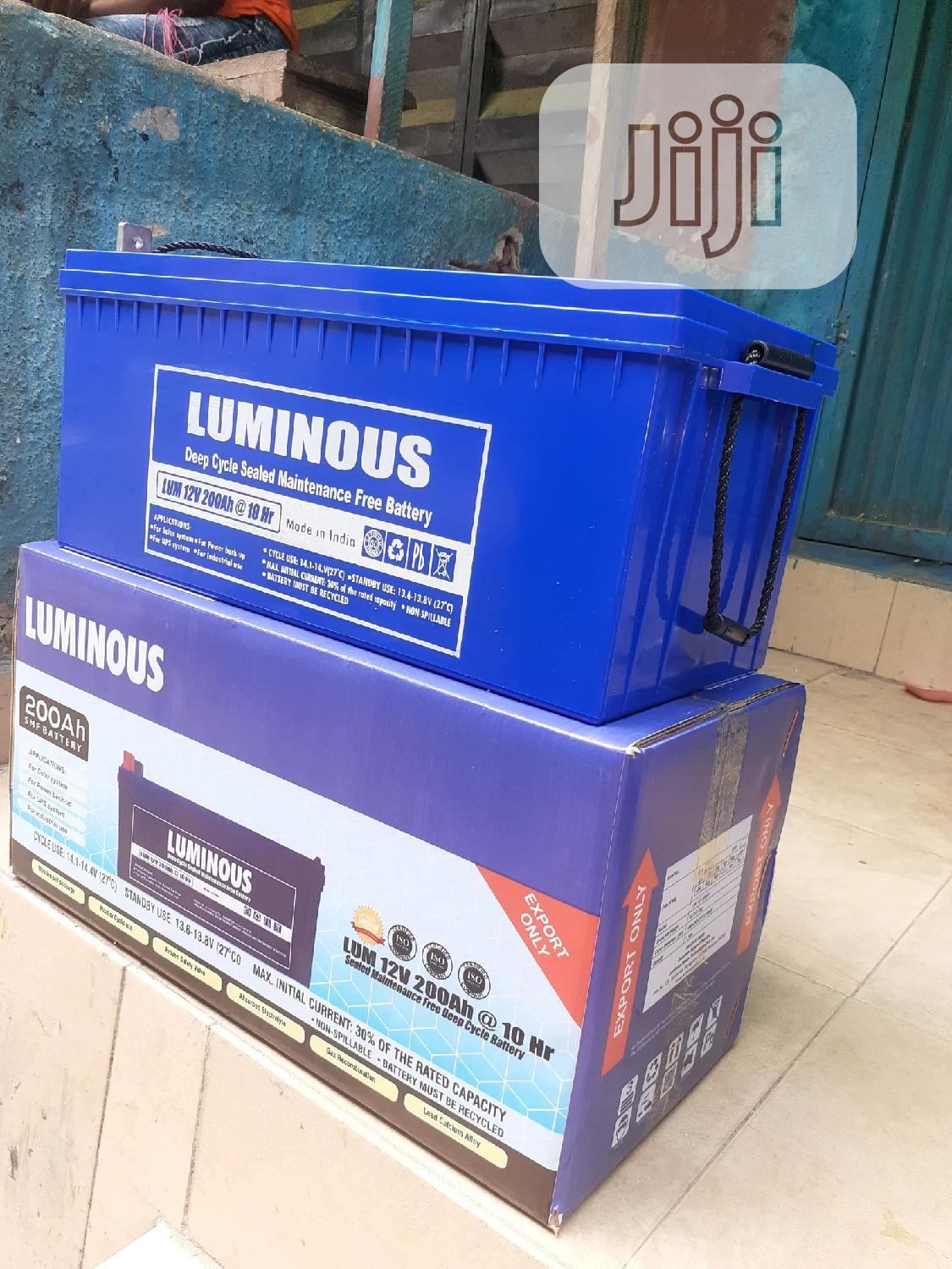 12v 200ah Luminous Battery Is Available