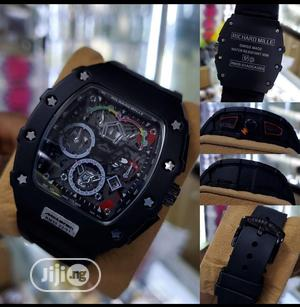 Richard Mille Men's Black Rubber Band Wristwatch | Watches for sale in Lagos State, Surulere