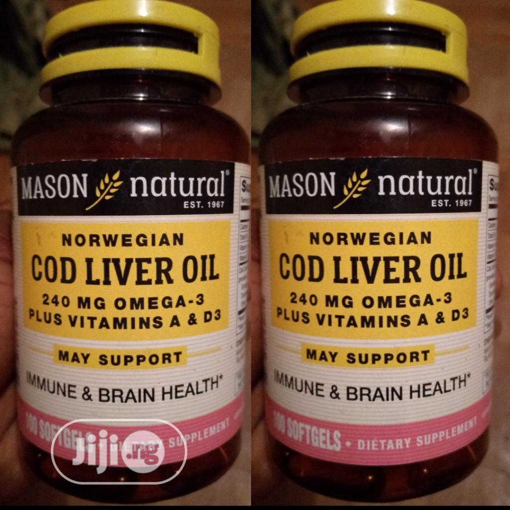 Mason Natural Cod Liver Oil Supplement USA
