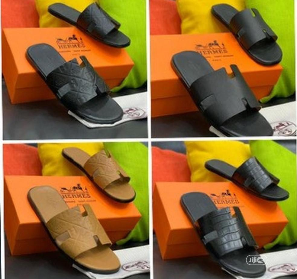 Men Slippers - Hermes Ap20 | Shoes for sale in Alimosho, Lagos State, Nigeria