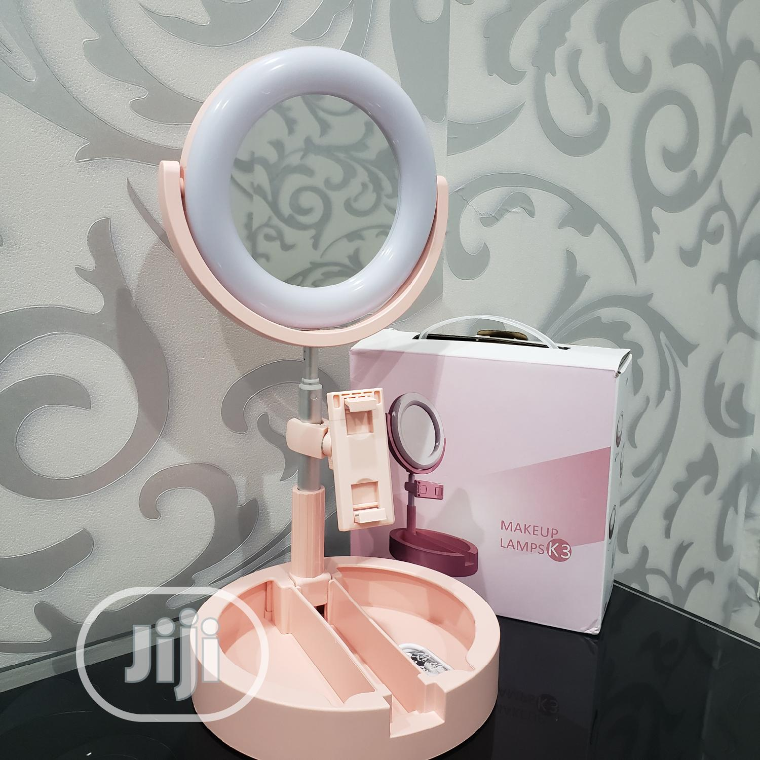 Ringlight Makeup Mirror With Led Light Wire Control