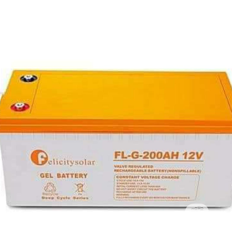 200AH 12volts Felicity Solar Battery