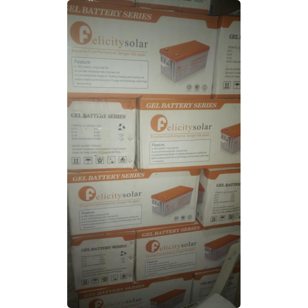 200AH 12volts Felicity Solar Battery | Solar Energy for sale in Ojo, Lagos State, Nigeria