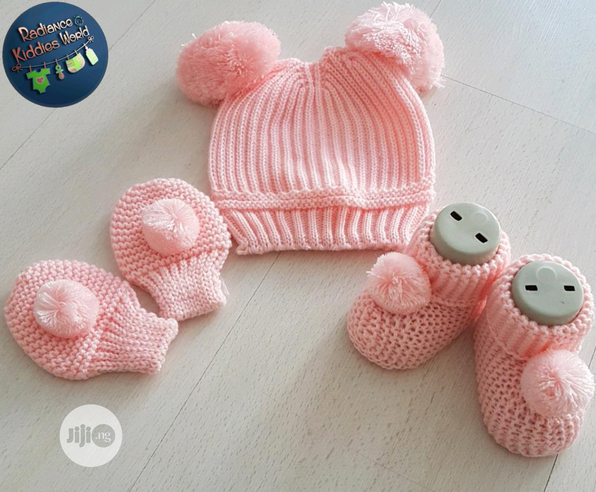 Baby Cap, Booties And Mittens Set | Children's Clothing for sale in Wuse, Abuja (FCT) State, Nigeria