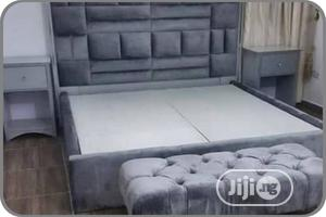 Quality Padded Bed Frame With Side Table | Furniture for sale in Lagos State, Ikeja