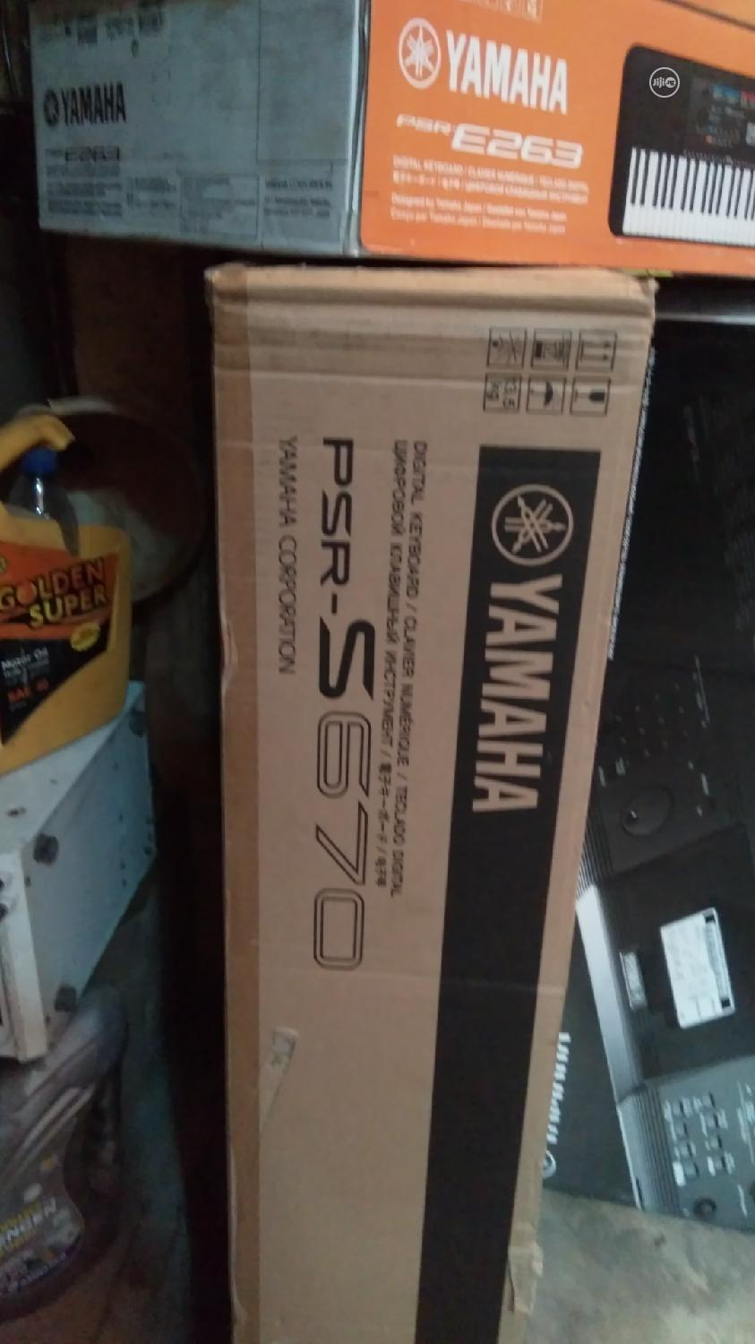 Yamaha Keyboard PSR S 670   Musical Instruments & Gear for sale in Ikeja, Lagos State, Nigeria