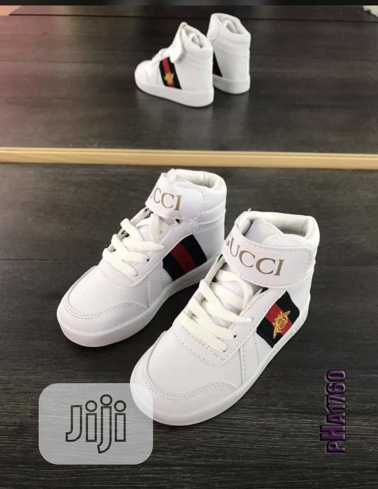 White Gucci Shoe For Kids Ranging