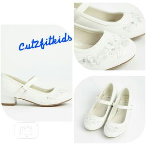 White Faux Leather Occassion Shoe | Children's Shoes for sale in Lagos State, Oshodi