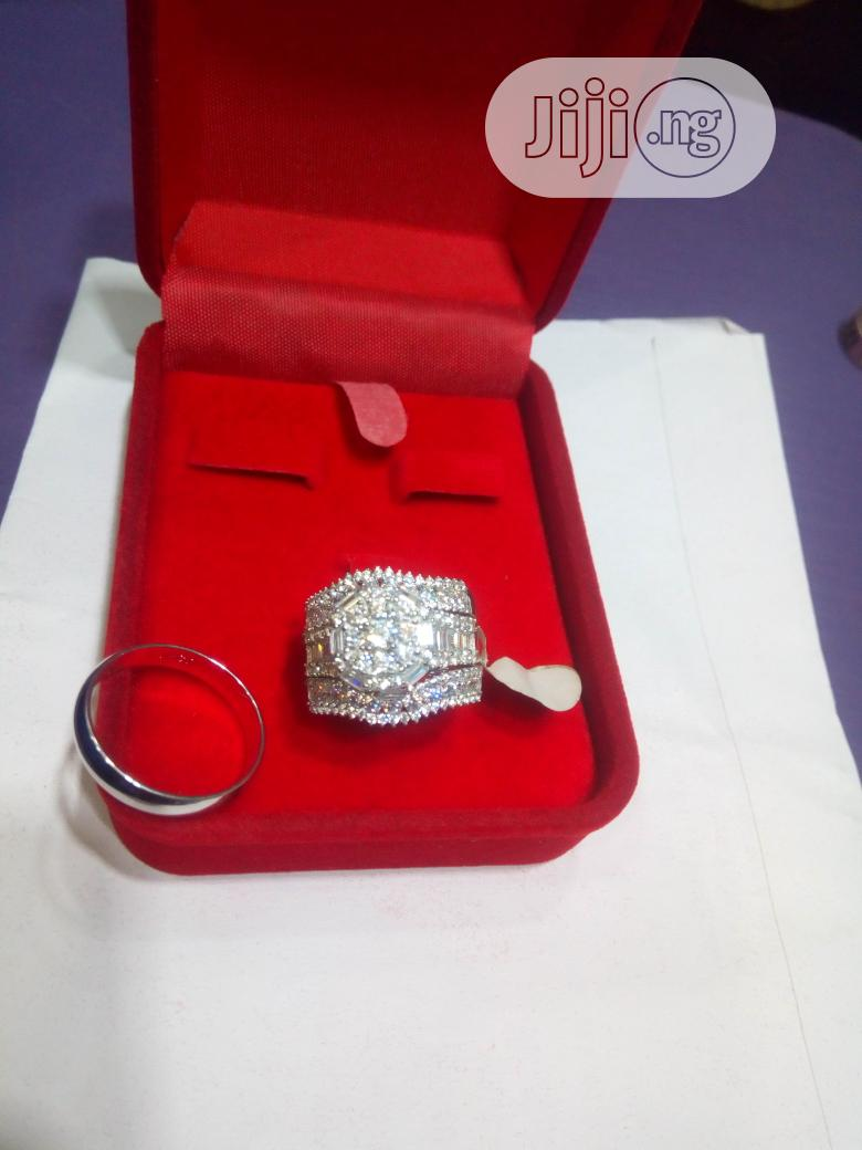Dubai 925 Complete Set Of Sterling Silver Wedding Ring 02