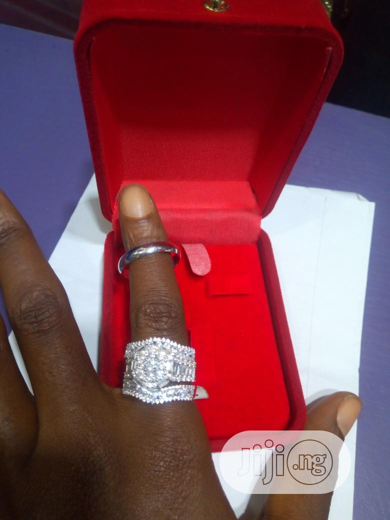 Dubai 925 Complete Set Of Sterling Silver Wedding Ring 02 | Wedding Wear & Accessories for sale in Lagos State, Nigeria