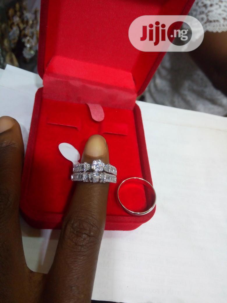 Dubai 925 Couple's Sterling Silver Wedding Ring 09