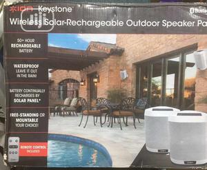 Wireless Solar-rechargeable Outdoor Speaker Pair   Audio & Music Equipment for sale in Lagos State, Ikeja