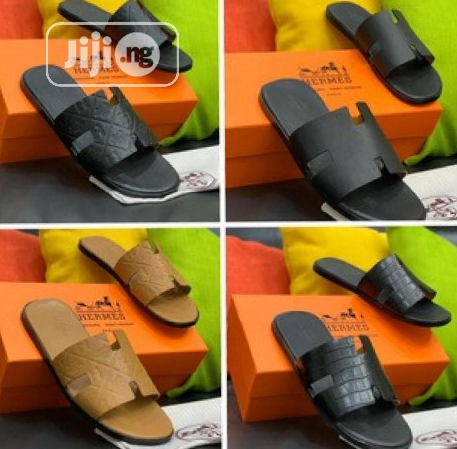 Men Slippers - Hermes D111 | Shoes for sale in Alimosho, Lagos State, Nigeria