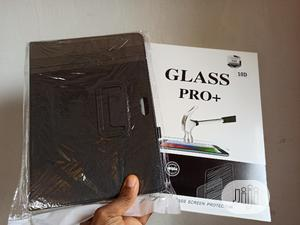 Cover Flip Pouch For Samsung Tablet + Tempered Glass Screen   Accessories for Mobile Phones & Tablets for sale in Lagos State, Ikeja