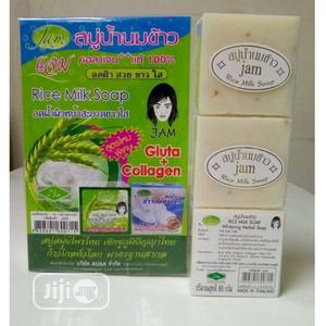 Jam Rice Milk Soap With Gluta And Collagen   Bath & Body for sale in Lagos State, Amuwo-Odofin