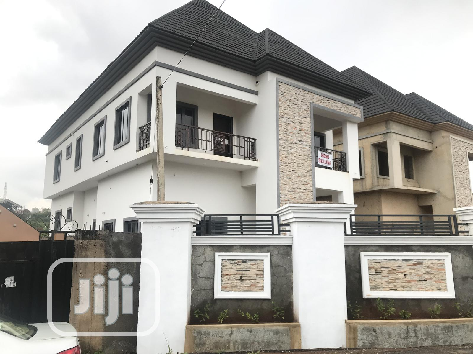 Newly Built 4-bedroom Detached House With BQ, Golf Estate 1 | Houses & Apartments For Sale for sale in Enugu, Enugu State, Nigeria