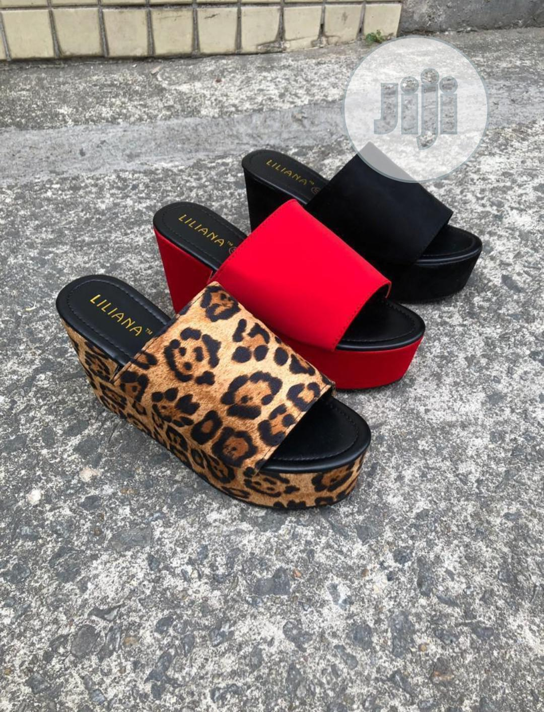 Women's Casual Leopard Muffin Sandals Slippers | Shoes for sale in Surulere, Lagos State, Nigeria