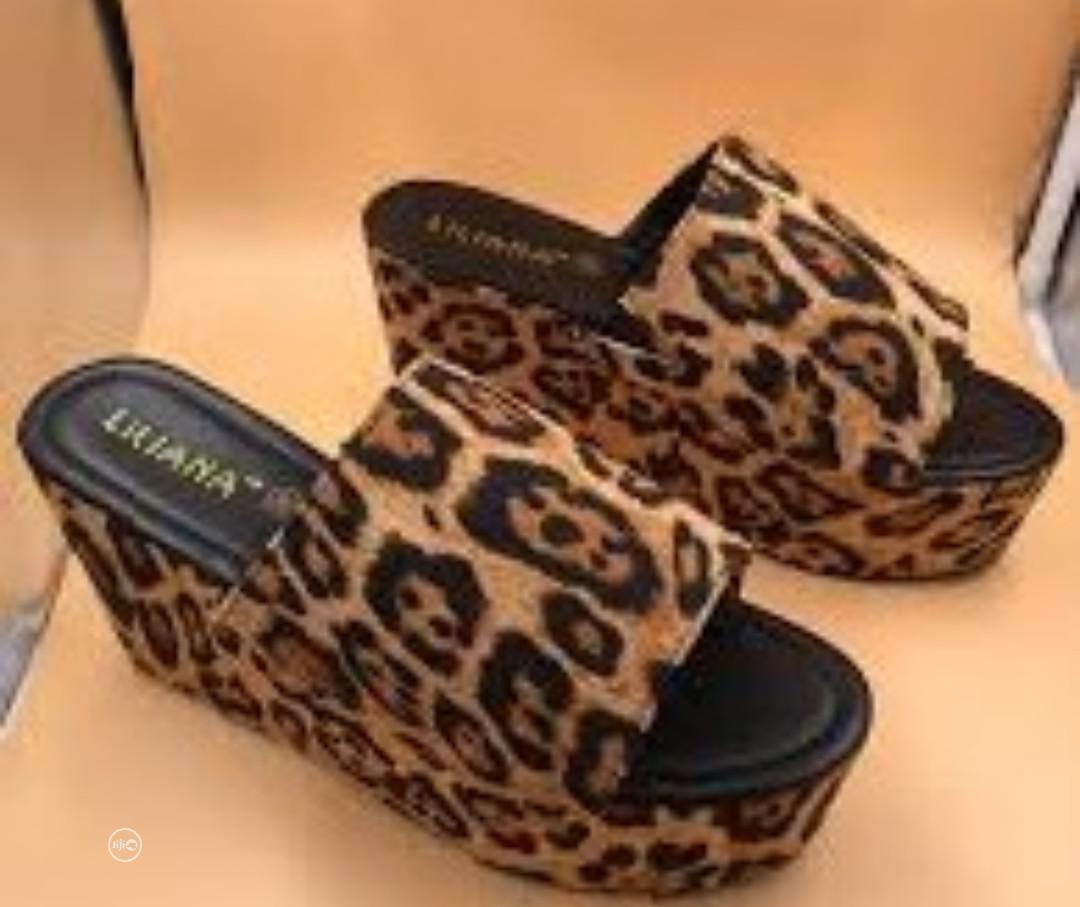 Women's Casual Leopard Muffin Sandals Slippers