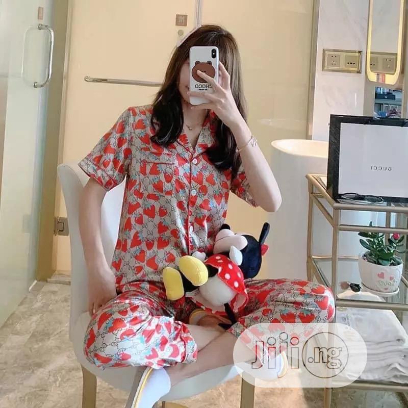 Pyjamas Satin Flower   Clothing for sale in Lagos Island (Eko), Lagos State, Nigeria