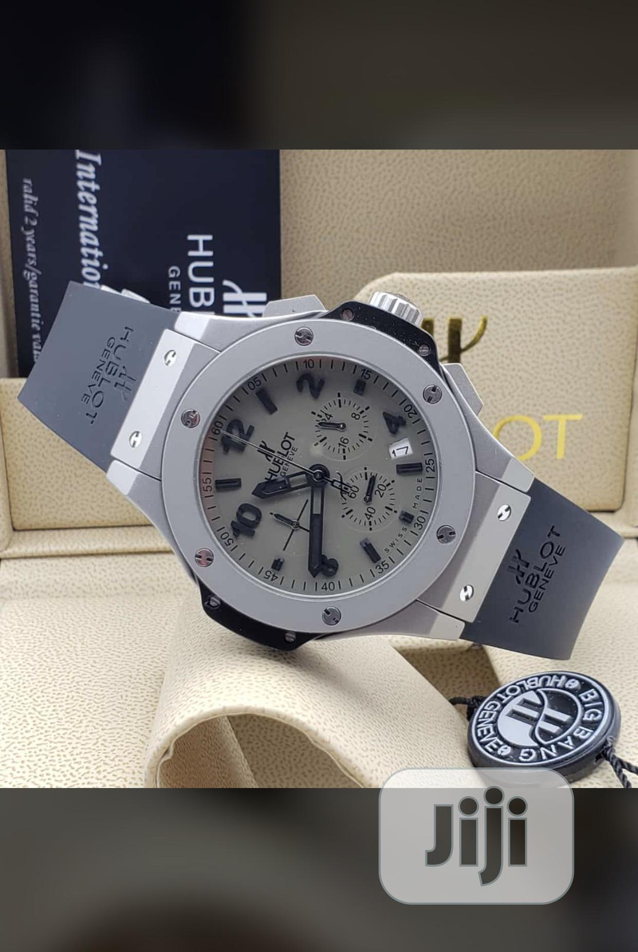 Hublot Leather Watch