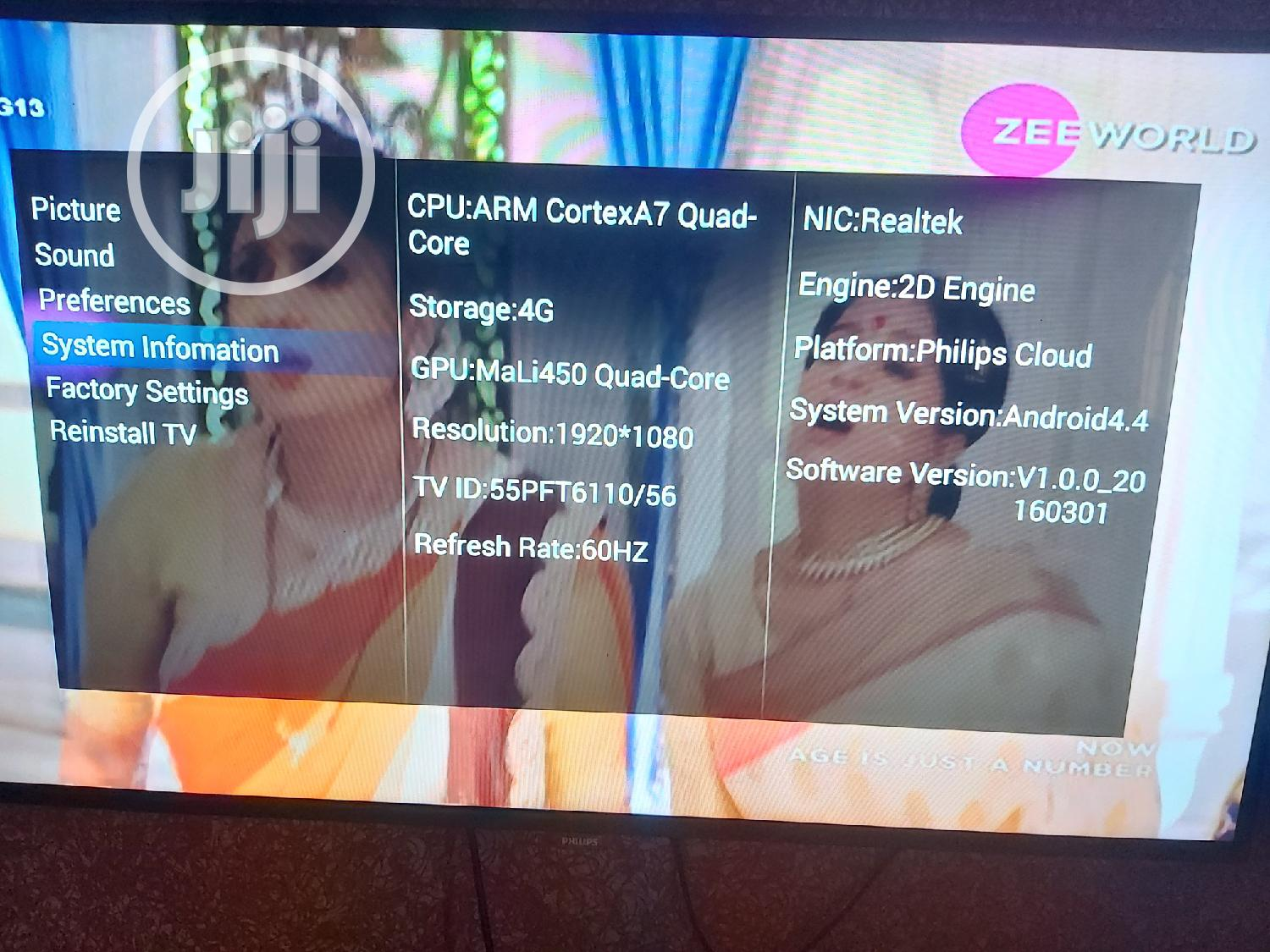 """55"""" Philips Android Smart Tv 